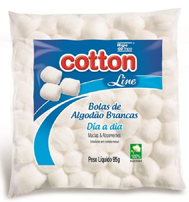Algodão de Bolinhas Brancas 95g - Cotton Line