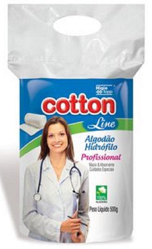 Algodão Hidrófilo 500g- Cotton Line