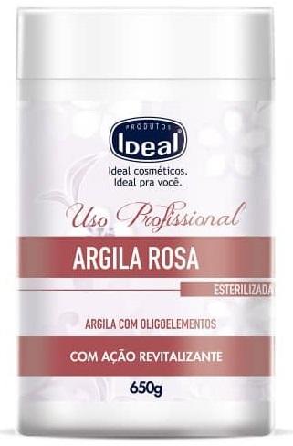 Argila Rosa Revitalizante com Oligoelementos 650g - Ideal