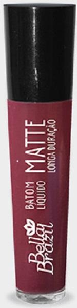 Batom Líquido Matte longa duração Cor 01 - Bella Brazil