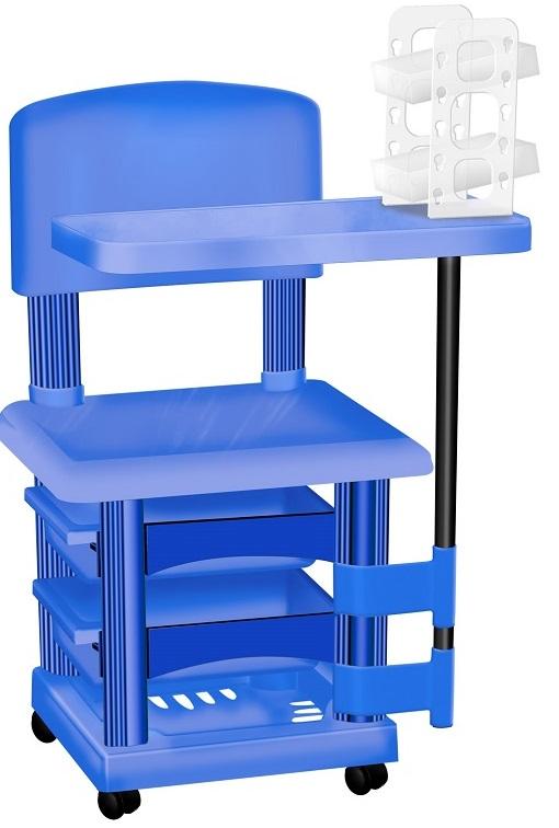 Cadeira Cirandinha Azul Para Manicure Com Display para Esmaltes