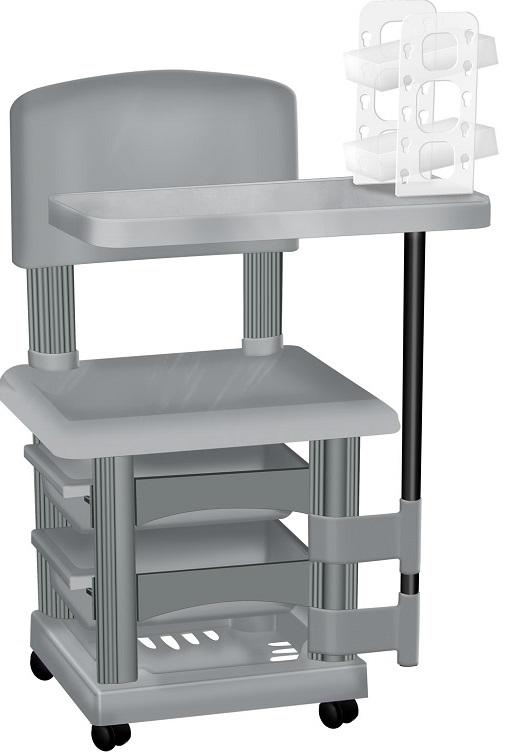 Cadeira Cirandinha Prata Para Manicure Com Display para Esmaltes