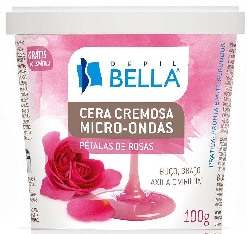Cera Cremosa Micro-ondas P�tala De Rosas Depil Bella - 100g