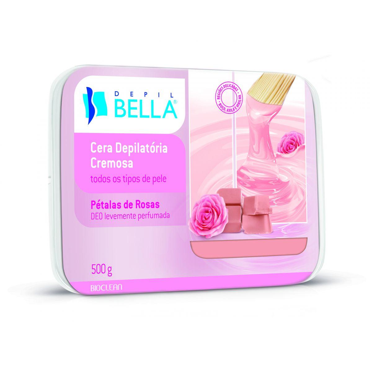 Cera Depilatória Cremosa em Cubos Pétalas de Rosas - Depil Bella