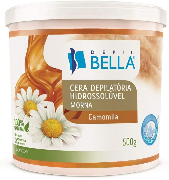 Cera Depilatória Hidrossolúvel Camomila - 500gr Depil Bella