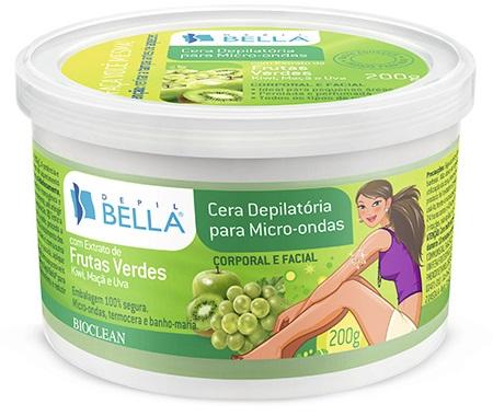 Cera Depilatória para Microondas Frutas Verdes - Depil Bella