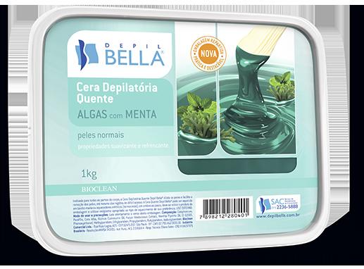 Cera Depilatória Quente de Algas e Menta - Depil Bella