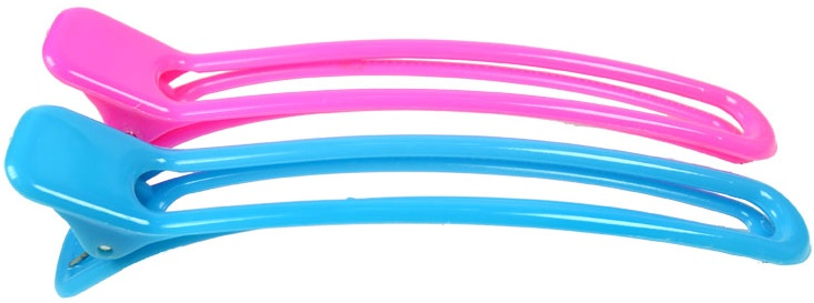 Clips Plásticos Para Cabelo Bico De Pato 04 Unidades - Santa Clara