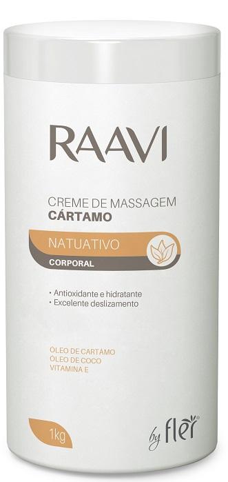 Creme de Massagem Corporal Cártamo 1kg - Raavi