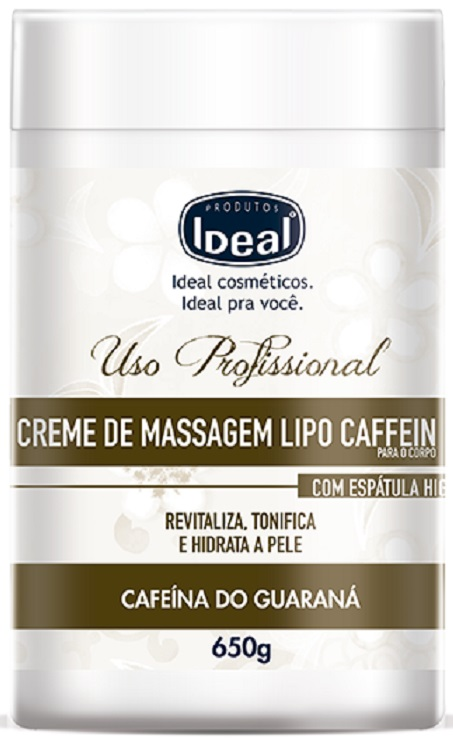 Creme De Massagem Lipo Caffein - Ideal 650gr