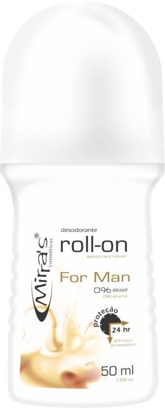 Desodorante Roll-on For Man Antitranspirante 50ml - Mirra´s