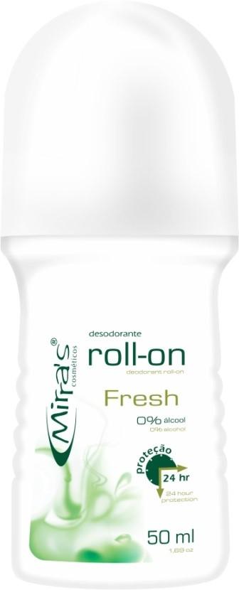 Desodorante Roll-on Fresh Antitranspirante 50ml - Mirra´s