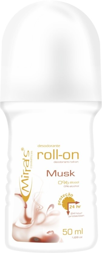 Desodorante Roll-on Musk Antitranspirante 50ml - Mirra�s