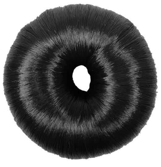 Donuts Luxo Preto Para Penteados De Cabelos Revestido Com Fios De Nylon