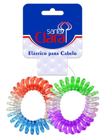Elástico Plásticos Mola Para Cabelos 02 Unidades - Santa Clara