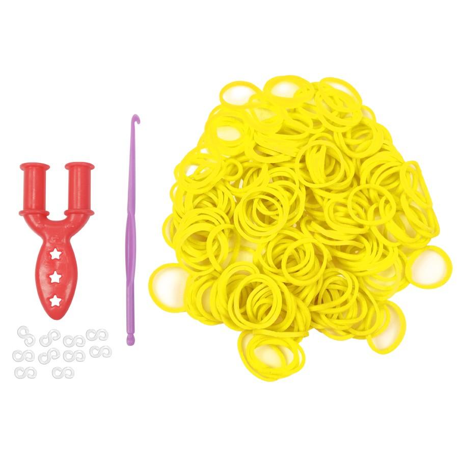 Elásticos Para Fazer Pulseiras Cor Amarelo 200 Unidades - Santa Clara