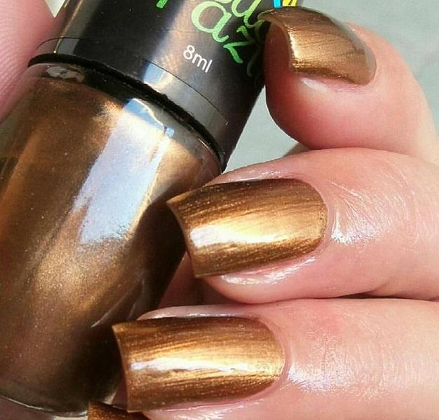 Esmalte Metalizado Ouro Preto  Bella Brazil - 8ml