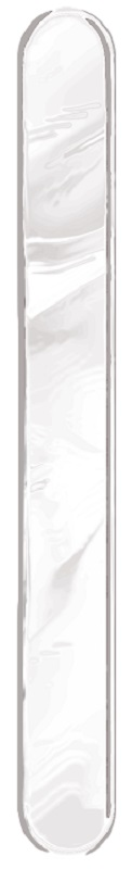 Espátula Plástica Transparente Descartável - 50 Unidades