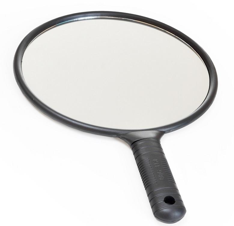 Espelho De Mão Redondo Grande - 01 Unidade Importado