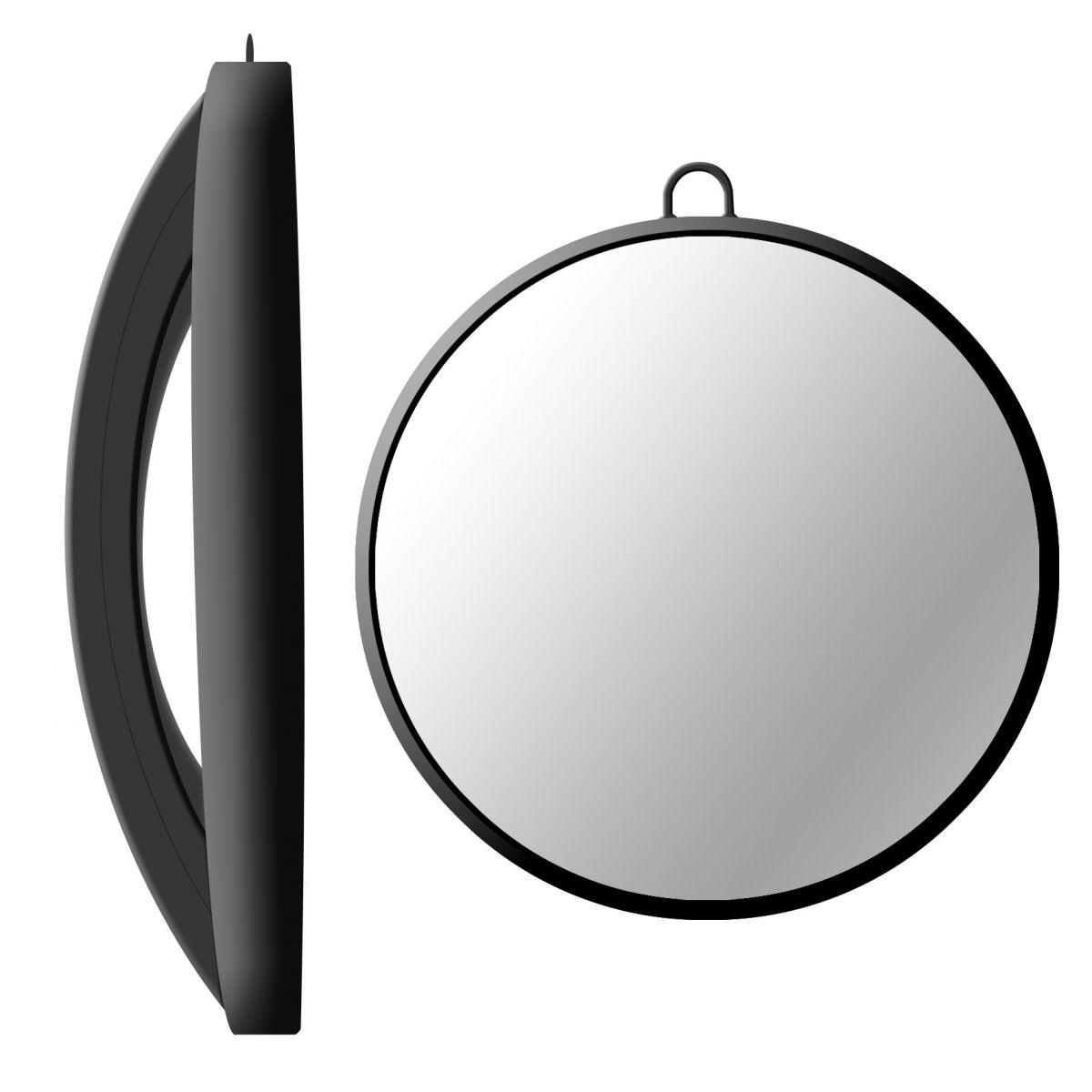 Espelho Grande Redondo de Mão - Santa Clara
