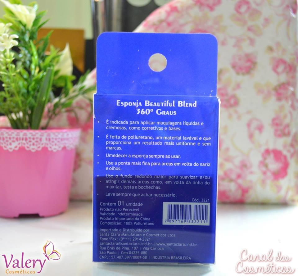Esponja Gota Beautiful Blend 360� Graus - Beauty Blender