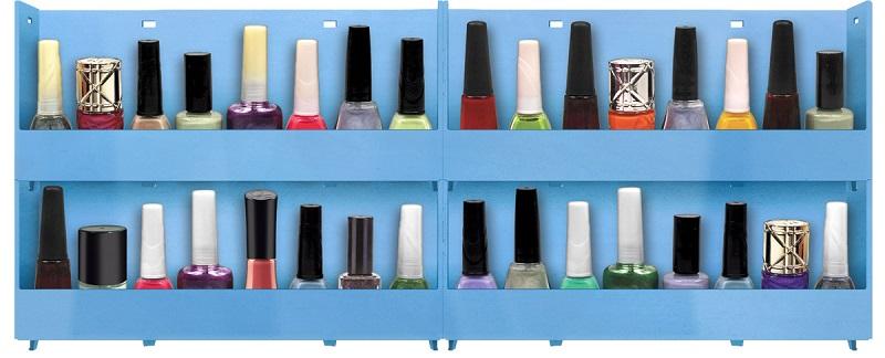 Expositor de Parede Para Esmaltes 4 bandejas - Azul