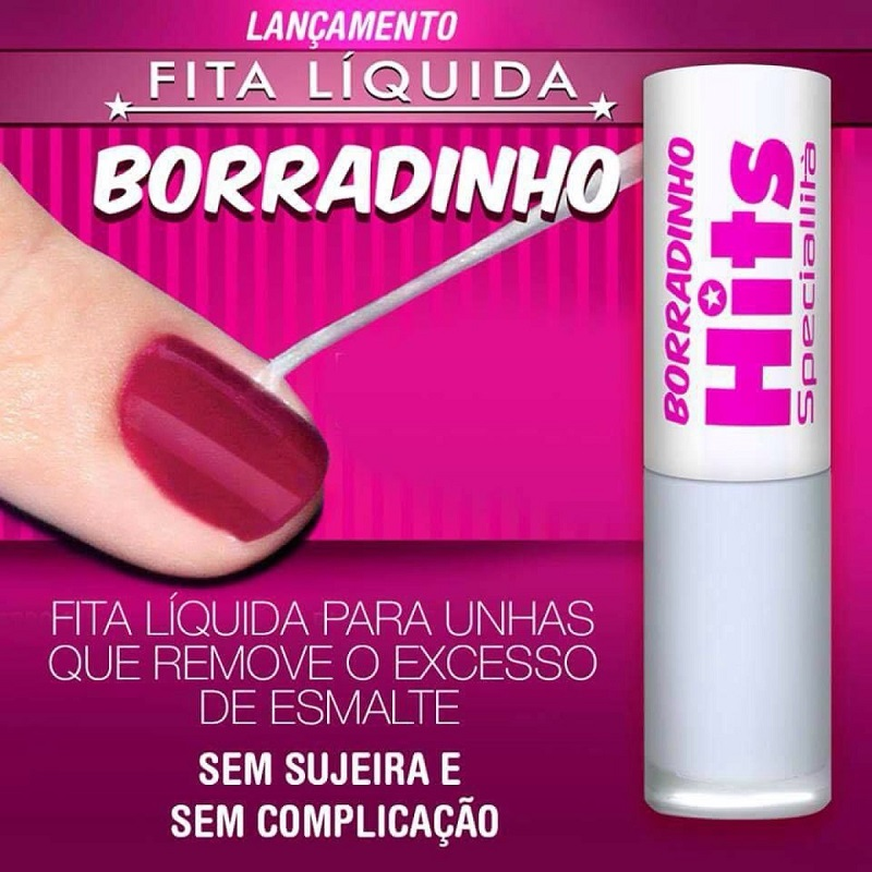 Fita Líquida Borradinho Remove o Excesso de Esmalte - Hits