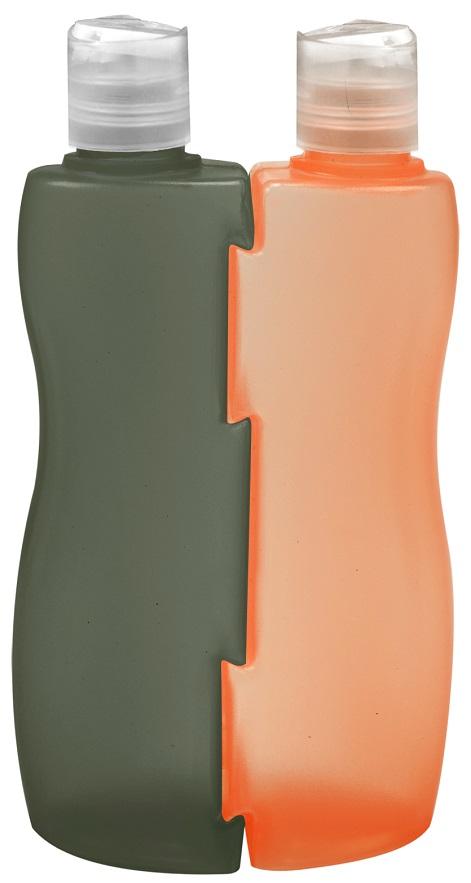 Frascos Bicolor Vazios Com Válvula Disk Top 210ml - 2 Unidades