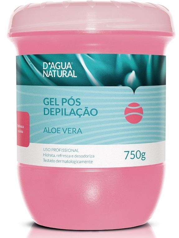 Gel Corporal Pós Depilação Aloe Vera Dágua Natural 750g