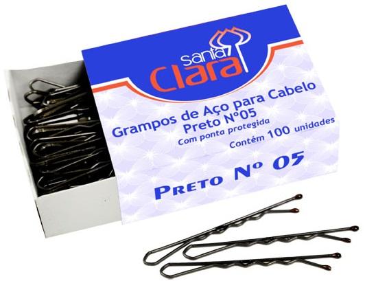 Grampo de A�o para Cabelo N�mero 5 100 Unidades