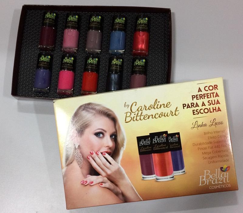 Kit com 10 Esmaltes Coleção Caroline Bittencourt - Bella Brazil