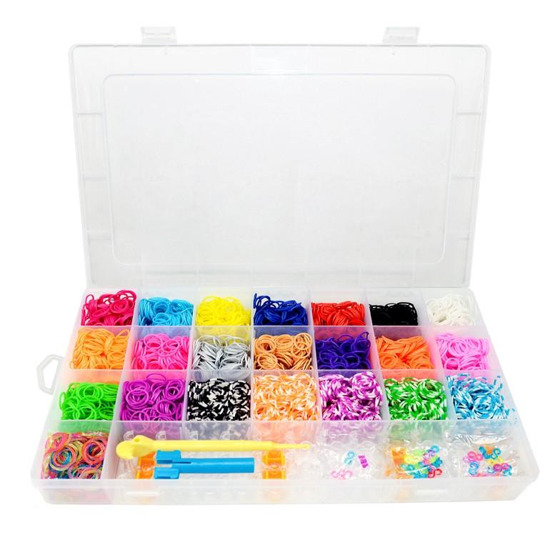 Kit De Elásticos Coloridos Para Fazer Pulseiras - 4000 Elásticos Sortidos