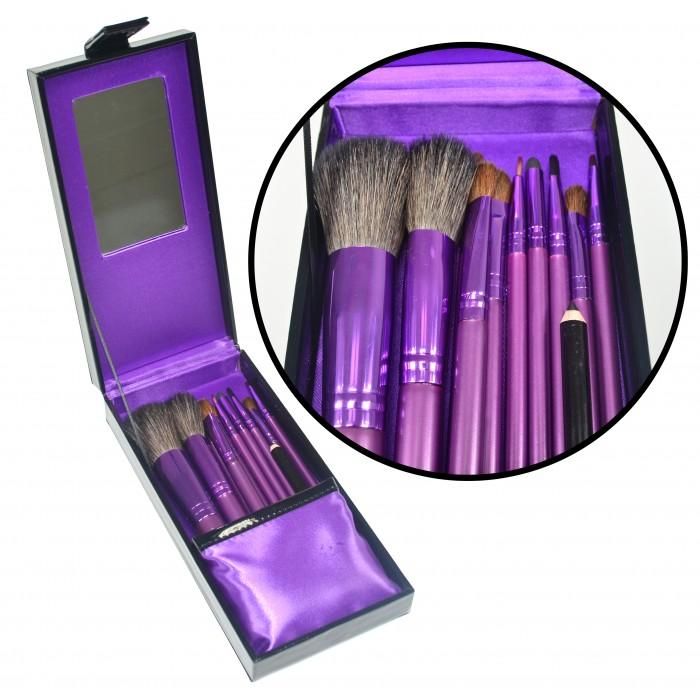 Kit de Pincéis para Maquiagem Luxo com 10 Pincéis