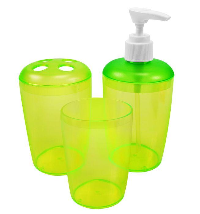 Kit Para Banheiro Translucido Com 03 Peças - Santa Clara