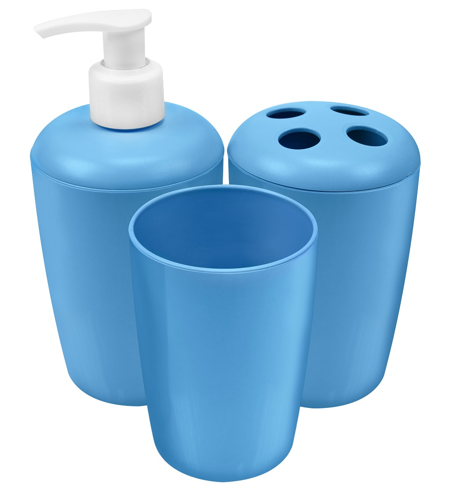 Kit Plástico Para Banheiro Com 03 Peças - Santa Clara