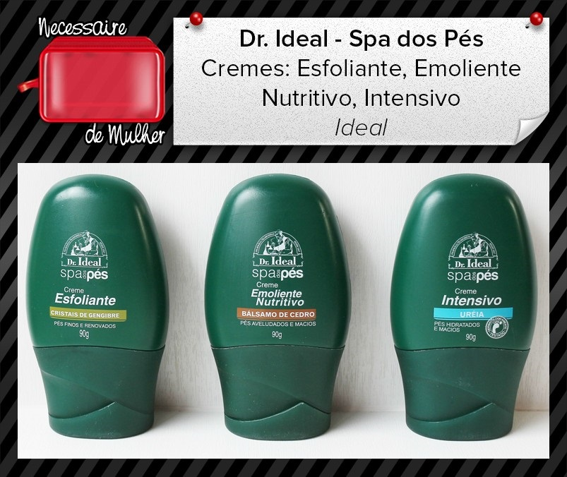 Kit Spa dos P�s Dr.Ideal com 3 Cremes - Ideal