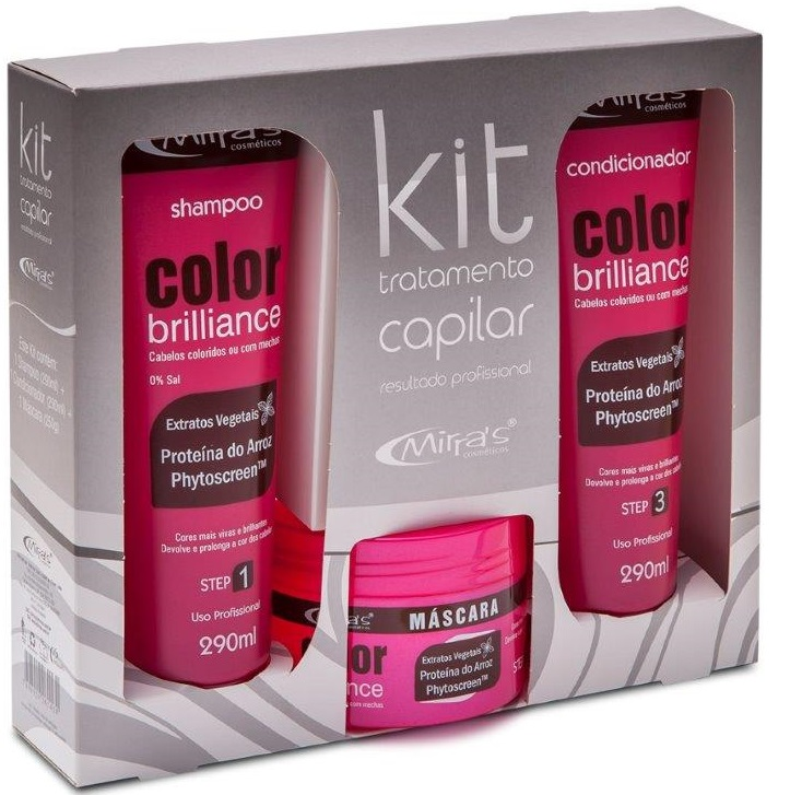 Kit Tratamento Capilar Color Brilliance Prote�na Do Arroz - Mirra�s