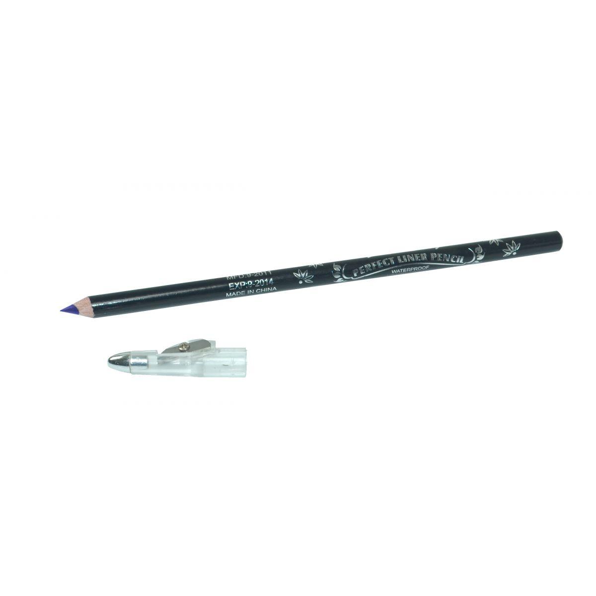Lápis Para Olho Com Apontador  Azul - Importado