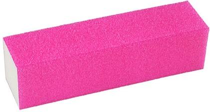 Lixa Cubo Rosa Neon Para Acabamento Em Unhas - 01 Unidade