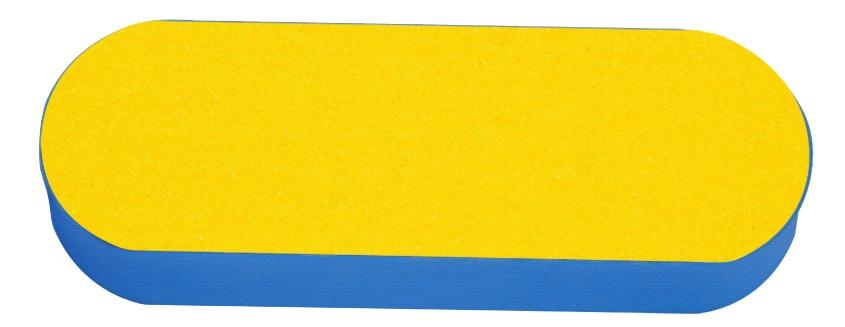 Lixa Em E.V.A 25mm Para Pés - Preta/Amarela 01 Unidade