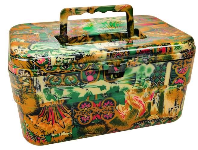 Maleta Multiuso Estampa Multi Color Com Tampa Removível - 01 Unidade