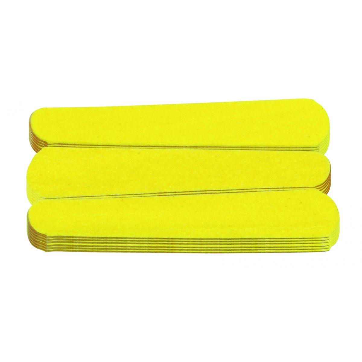 Mini Lixa Amarelo Can�rio Para Unhas 20 Unidades - Santa Clara
