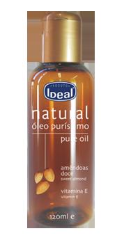 Óleo Natural de Amêndoas Doce + Vitamina E Ideal - 120ml