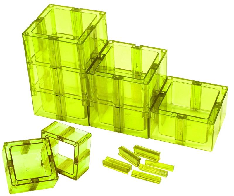 Organizador Multiuso Montável Com Fundo Verde Limão - Santa Clara