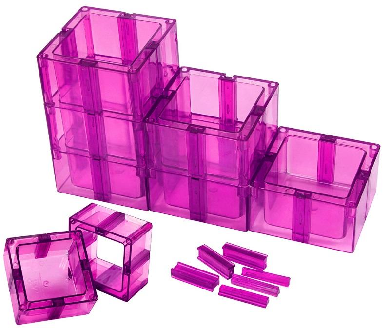Organizador Multiuso Montável Sem Fundo Pink - Santa Clara
