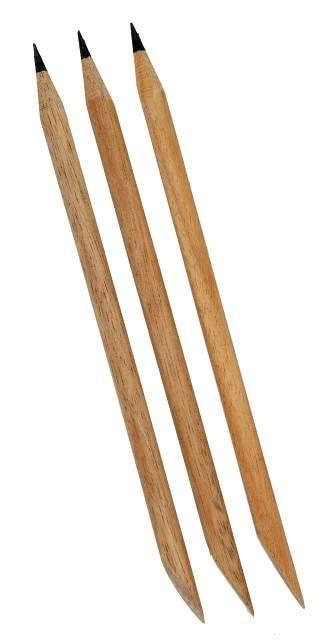 Palito para Unha Marfim com Ponta de Aço Com 3 Unidades - Santa Clara