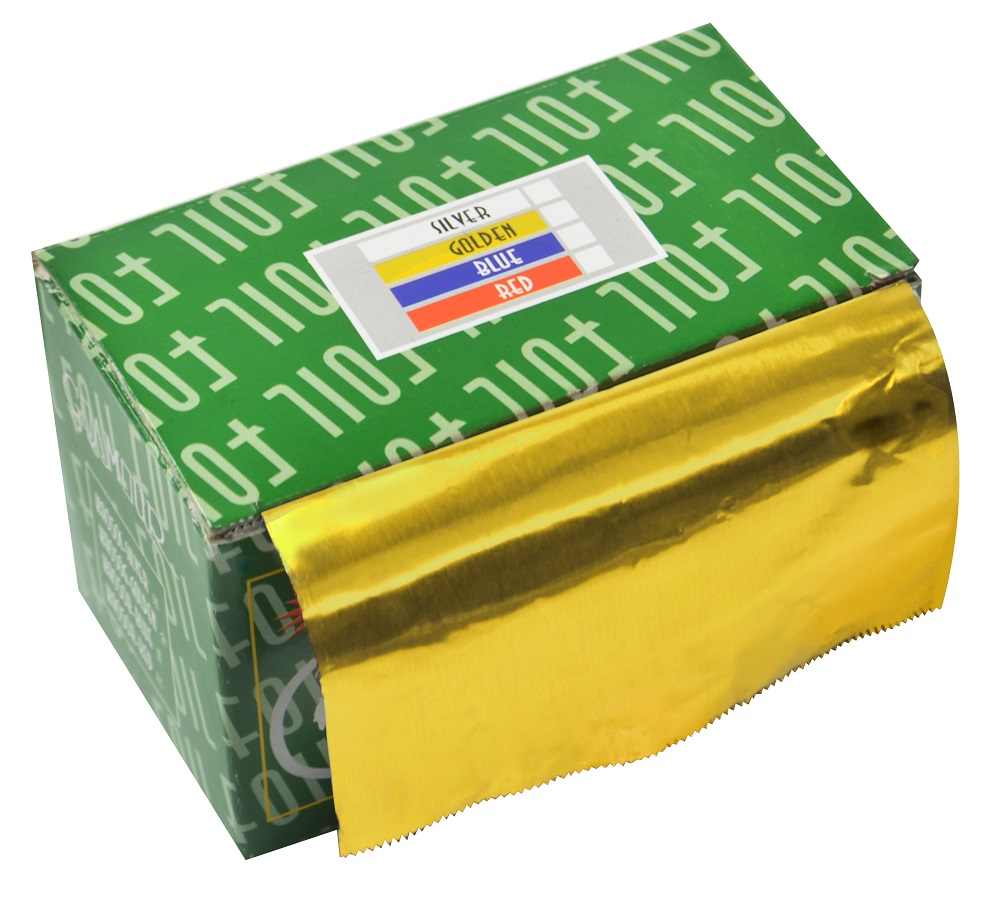 Papel Alumínio Amarelo Para Cabelos Rolo 16Micras - 01 Unidade