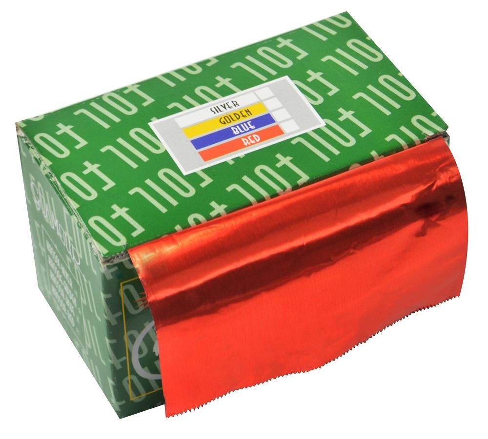 Papel Alumínio Vermelho Para Cabelos Rolo 16Micras - 01 Unidade