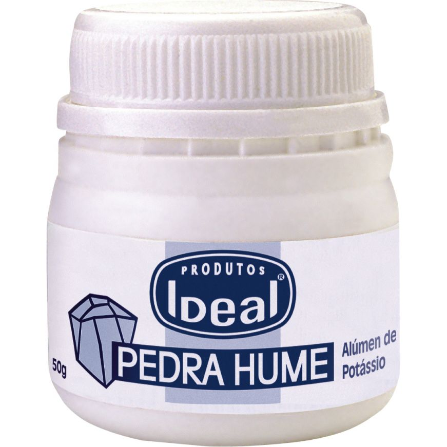 Pedra Hume Sólida Pote 50g - Ideal