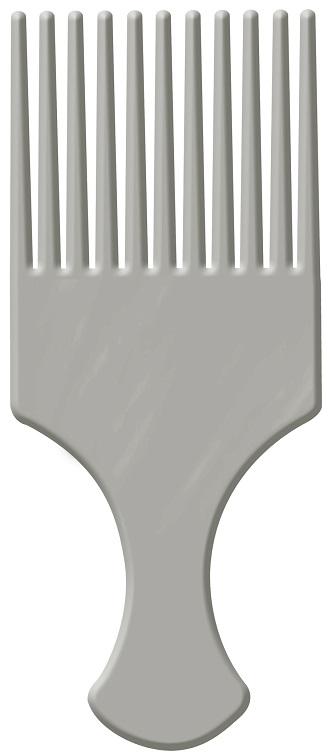Pente Afro Prata Com Dentes Largos - Santa Clara